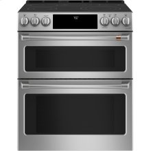 "Café 30"" Slide-In Front Control Radiant and Convection Double Oven Range"