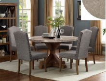 Vesper Round 5 Piece Dining Room Set: Marble Table & 4 Chairs
