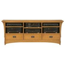 """Oak 68"""" TV Console"""