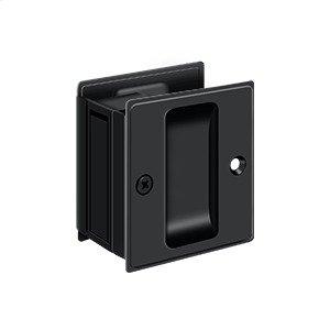 "Pocket Lock, 2 1/2""x 2 3/4"" Passage - Paint Black"