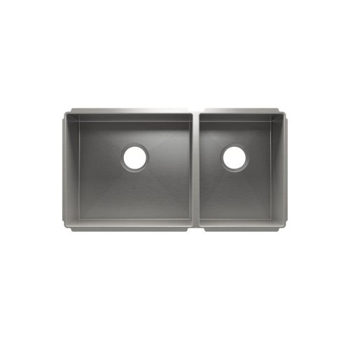 "J7® 003934 - undermount stainless steel Kitchen sink , 18"" × 16"" × 8""  12"" × 16"" × 8"""