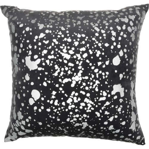 """Luminescence Qy168 Charcoal 18"""" X 18"""" Throw Pillows"""