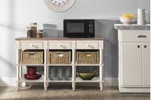 Seneca Sofa Table With 3 Drawers - 3 Baskets Included