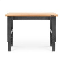 4' Wide Adjustable Height Hardwood Workbench