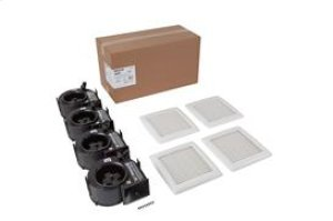 InVent Series 80 CFM 2.0 Sones Finish Pack with White Grille