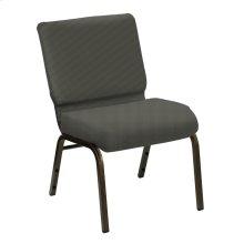 Wellington Slate Upholstered Church Chair - Gold Vein Frame