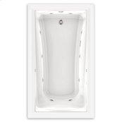 Green Tea 60x36 inch EcoSilent Combo Massage Tub - White