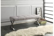 X-Base Bench, Gray Linen Product Image