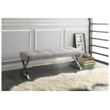 X-Base Bench, Gray Linen