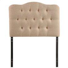 Annabel Twin Upholstered Fabric Headboard in Beige