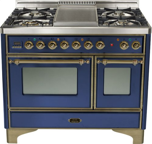 "Midnight Blue 40"" 6 Burner Majestic Techno Dual Fuel Range"