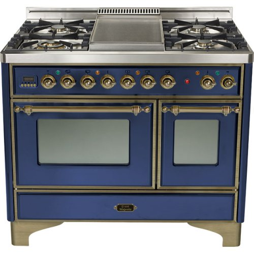 """Midnight Blue 40"""" French Top Majestic Techno Dual Fuel Range"""