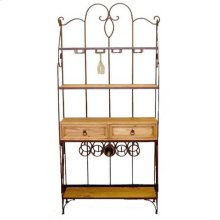 Wrought Iron Wine Bakers Rack