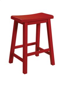 Color Story Crimson Red Counter Stool