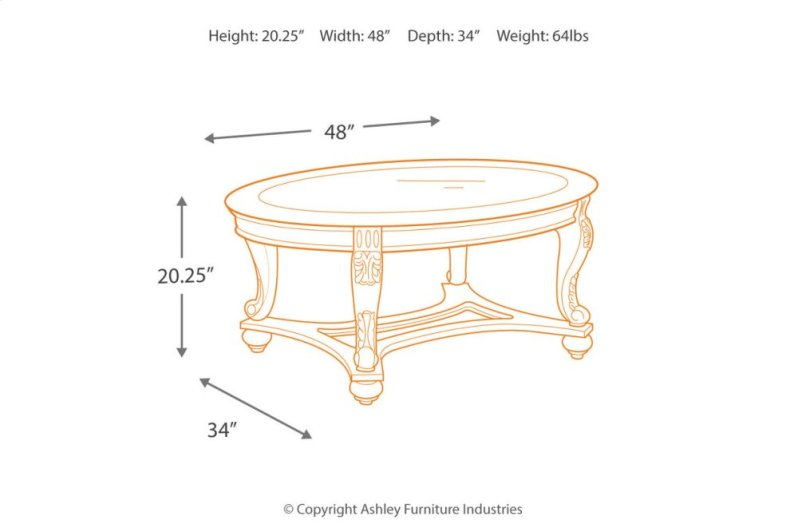 T In By Ashley Furniture In Orange CA Oval Cocktail Table - Ashley furniture oval coffee table
