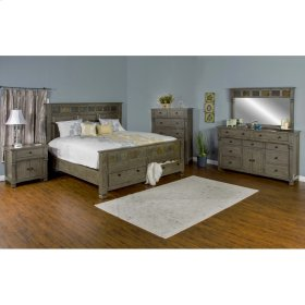"Scottsdale Eastern King Bed Dimensions: 83.5"" X 91"" X 67.5""H"