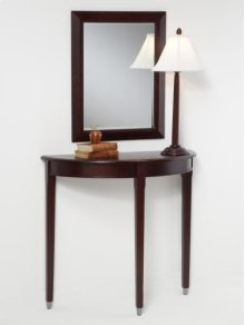 Cherry 1/2 Moon Console/Mirror/Lamp