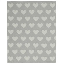 "Plushlines Uk961 Silver Grey 30"" X 40"" Throw Blanket"