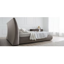 Fully upholstered bed