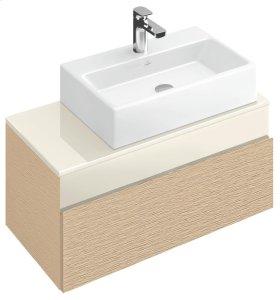 """Washbasin 24"""" (Ground) Angular - Glossy Black Ceramicplus"""