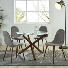 Rocca/Lyna 5pc Dining Set, Grey