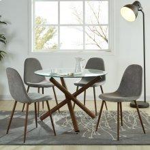 Rocca/Lyna 5pc Dining Set, Grey