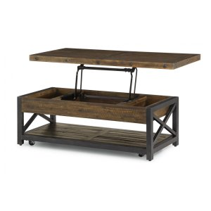 FlexsteelCarpenter Rectangular Lift-Top Coffee Table with Casters