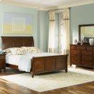 Queen Sleigh Bed, Dresser & Mirror Product Image