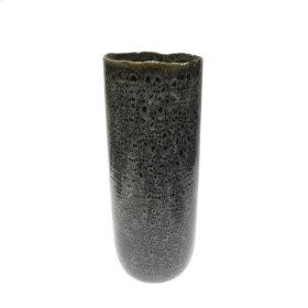 """Ceramic 16.5"""" Vase, Black"""
