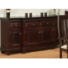 Florentino Sideboard w/4 Wood Doors & 4/Dwrs & 1/Wood Halfshelf