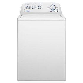 3.8 cu. ft. High-Efficiency Washer with Stainless Steel Wash Basket - white