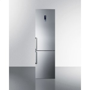 SummitEnergy Star Certified Counter Depth Bottom Freezer Refrigerator In A Slim Fit, With Frost-free Operation, Stainless Steel Doors, and Digital Controls