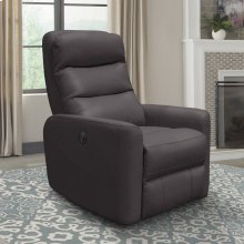 Hercules Chocolate Power Swivel Glider Recliner with Articulating Headrest and built-in battery pack
