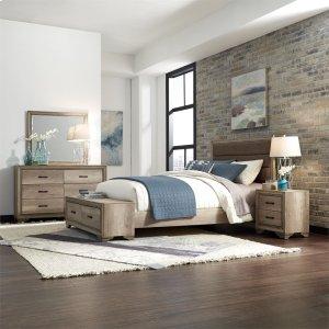 Liberty Furniture Industries Queen Storage Bed, Dresser & Mirror, N/s