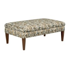 Large Cocktail Ottoman-tapered Leg-storage