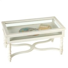 White Curio Coffee Table.