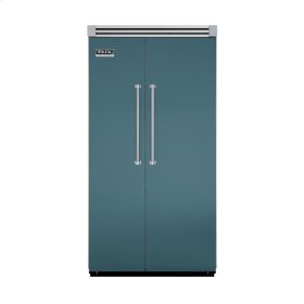 "Iridescent Blue 42"" Quiet Cool™ Side-by-Side Refrigerator/Freezer - VISB Tru-Flush™ (42"" wide)"