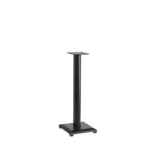 """Black 30"""" Natural Series Wood Pillar Speaker Stands - Pair"""