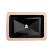 Pop Rectangle Under Counter Bathroom Sink - Black