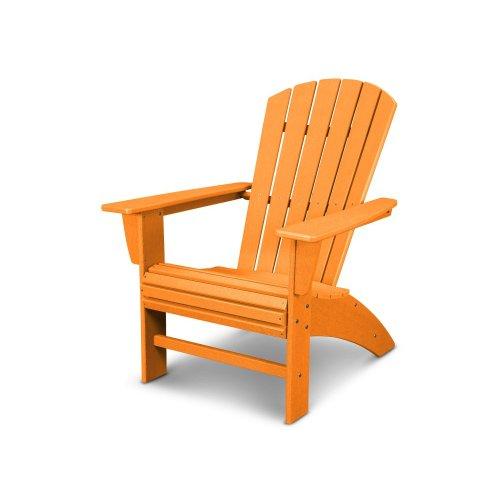 Vintage Tangerine Nautical Curveback Adirondack Chair in Vintage Finish