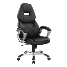 Transitional Black High Back Office Chair
