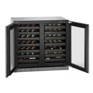U-LineModular 3000 Series 36 Cm Wine Cellar With Integrated Frame Finish and Double Doors Door Swing (220-240 Volts / 50 Hz)