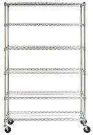 Juliet 6 Tier Heavy Duty Chrome Wire Rack (47 In W X 18 In D X 75 In H) - Chrome Plating Product Image