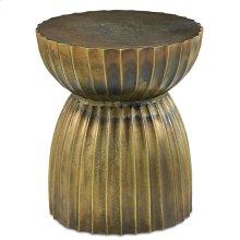 Rasi Antique Brass Table/Stool