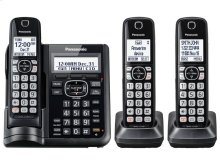 Expandable Cordless Phone with Call Block and Answering Machine - 3 Handsets - KX-TGF543B