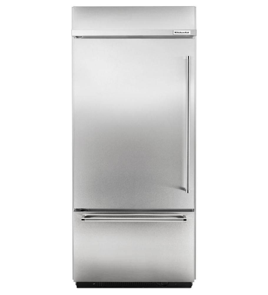 Kitchenaid Built In Bottom Freezer Refrigerator: Model # KBBL206ESS