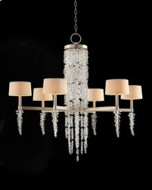 Cascading Crystal Waterfall Six-Light Chandelier