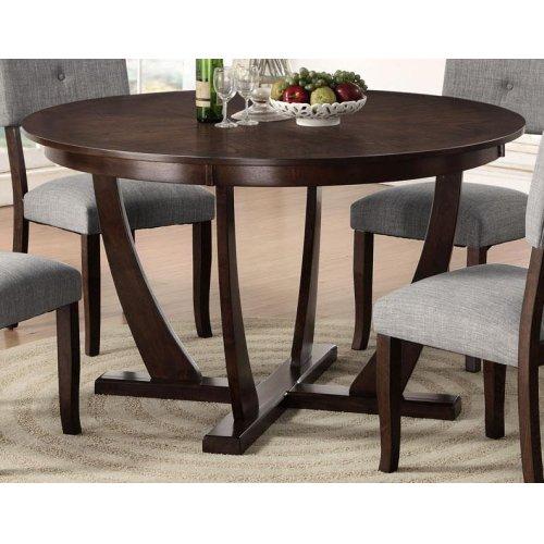 Elantra Pedestal 54 Round Dining Table