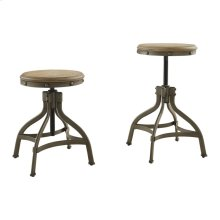 Round Stool, Adjustable Height