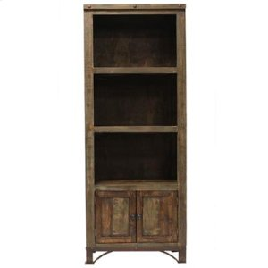 "30"" Wide Pier Bookcase: 30"" x 16"" x 76"" Urban Rustic Entertainment Centre"